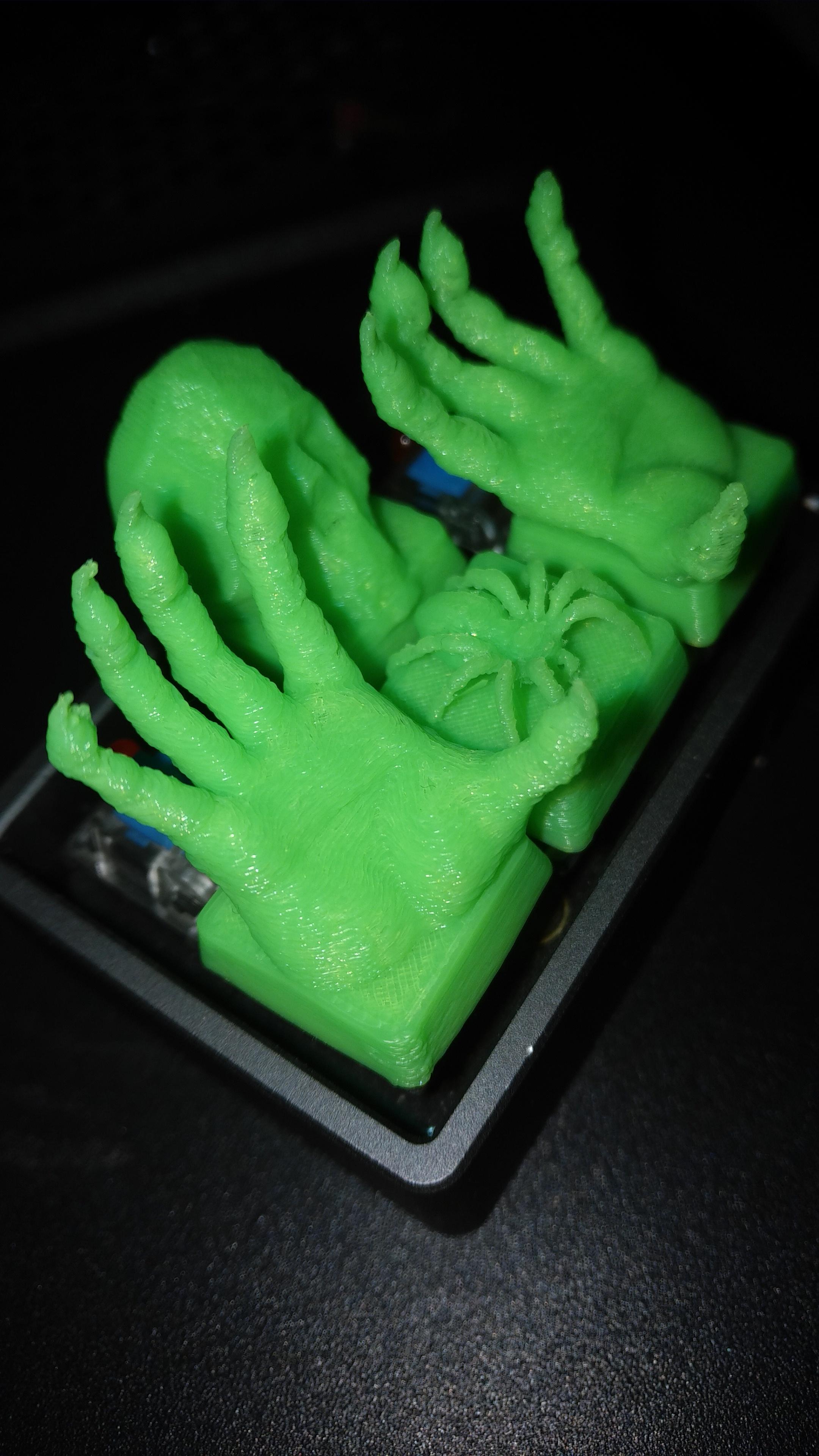 Custom 3d Printed Mechanical Keyboard Cherry MX Keycap Zombie Hands