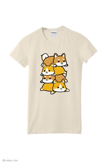 8ef3f0e88a402 Corgi   Shiba Inu Pile T-Shirt on Storenvy