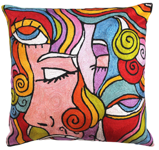 Alfred Gockel Abstract Composition Modern Accent Throw Pillow Cover