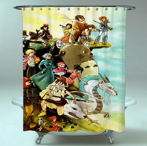 Studio Ghibli Characters Disney Shower Curtain On Storenvy