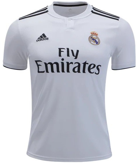 aa24a6561 Custom Real Madrid 2018 19 Jersey Men Soccer Home Football Shirt White