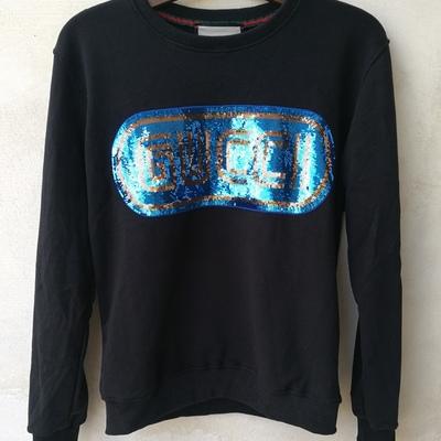 3e5b822d5ecb Gucci women s black cotton sequined logo sweatshirt