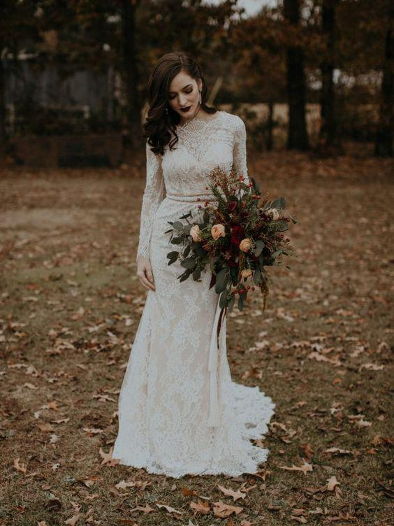 Long_Sleeve_Vintage_Wedding_Dresses_Backless_Rustic_Lace_Wedding_Dresses