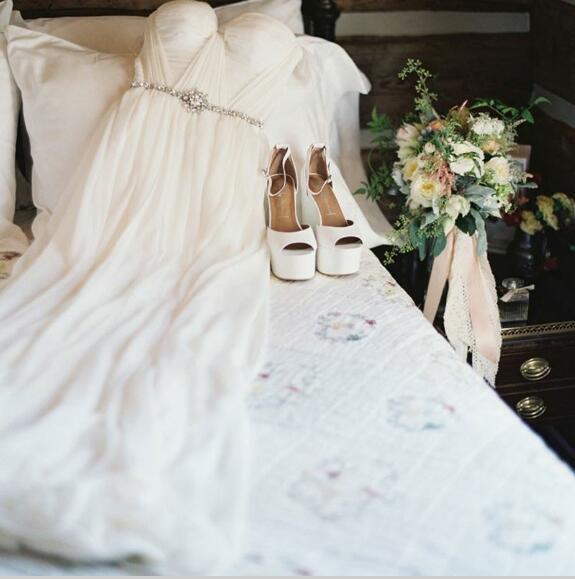 a6acdff1b5 ... A-Line Sweetheart Floor-Length White Chiffon Beach Wedding Dress -  Thumbnail 2 ...
