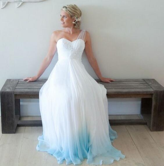 A-Line_One-Shoulder_Floor-Length_Ombre_Chiffon_Wedding_Dress_with_Lace