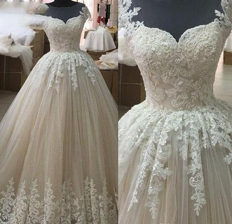 Design A Wedding Dress.Simple Design A Line Wedding Dresses Jewel Lace Appliques Beaded Bridal Dresses Elegant Tulle High Quality Wedding Gowns From Mrtang