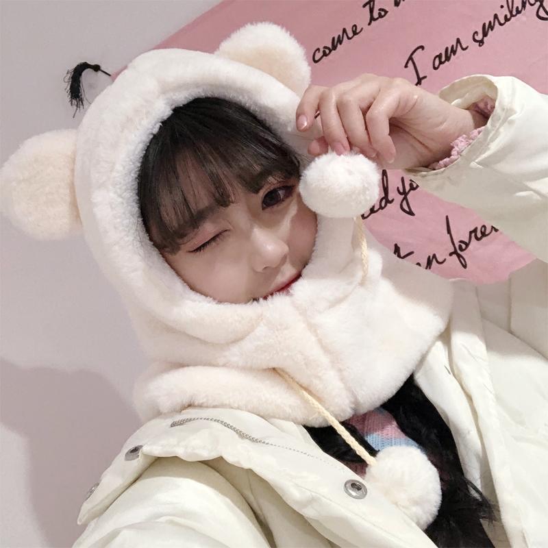 b506246fb8cc5 Fluffy Bear Ear Warm Hat on Storenvy