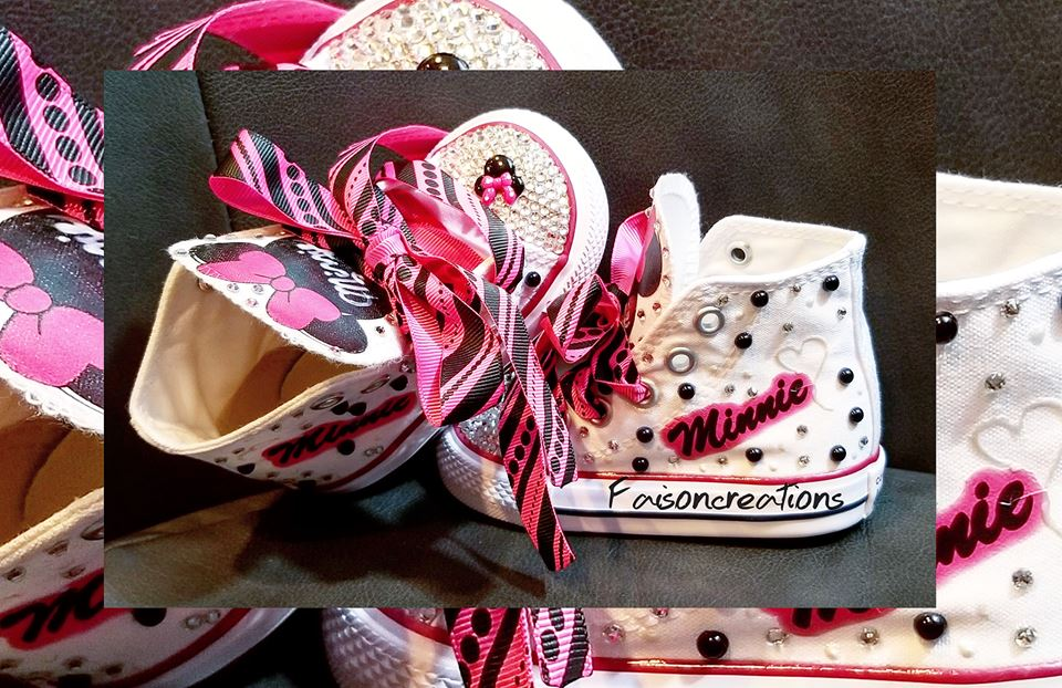 5a4dd563f650 Toddler Custom Minnie Mouse Converse on Storenvy