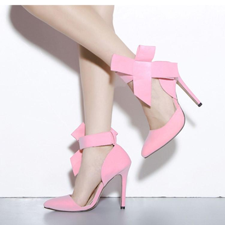 3e42a30404e4 Glaring Red Pointed Toe High Heel Bow Sandals Q-0118 · Eoooh ...