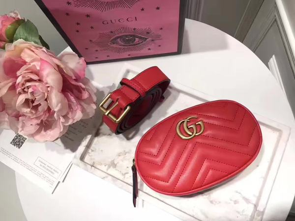 785eb2ca17c0 GG Marmont Red matelassé leather belt bag · PvlMagazine · Online Store  Powered by Storenvy