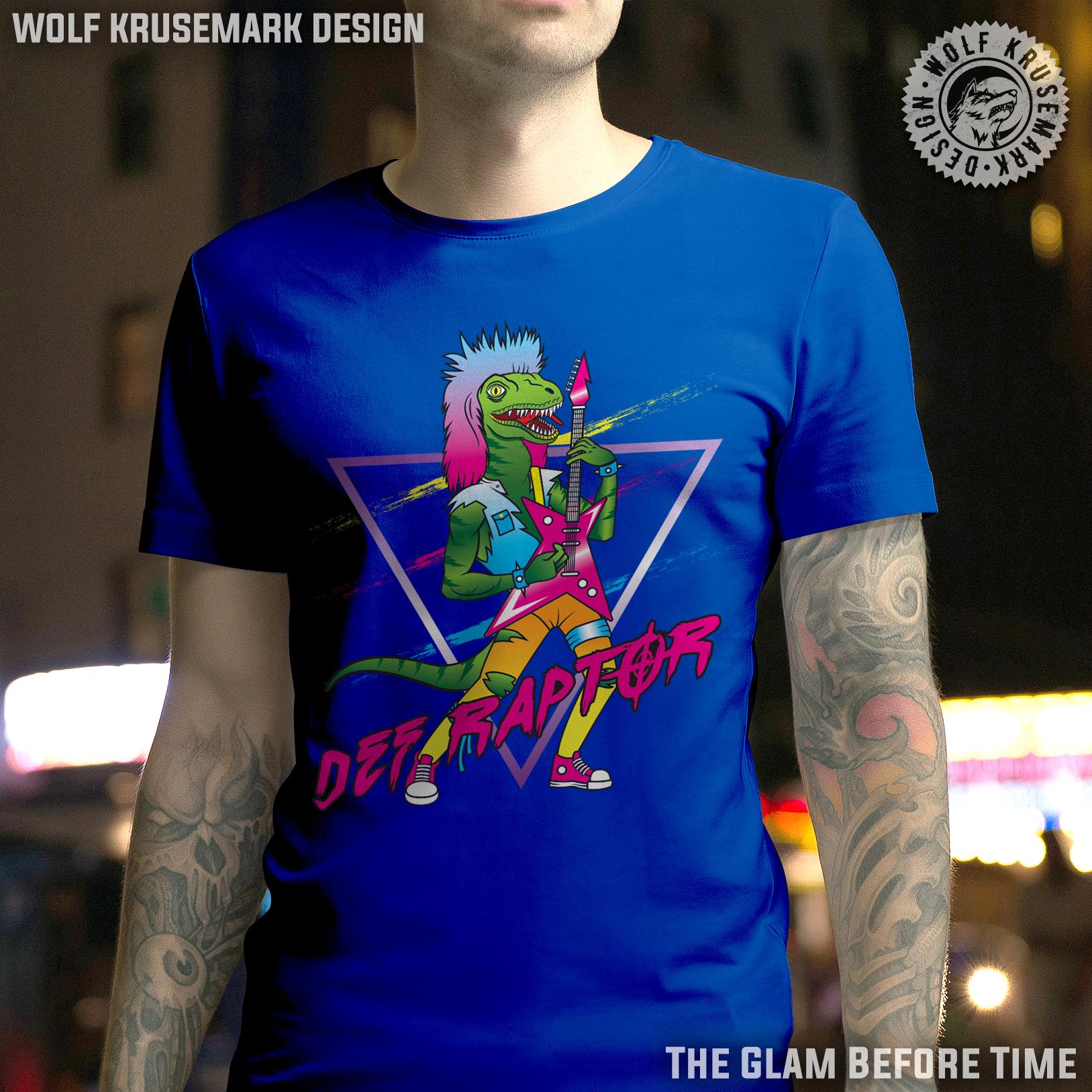aed6a55e Def Raptor/dinosaur/retro/rock/T-Shirt/retro/80s on Storenvy