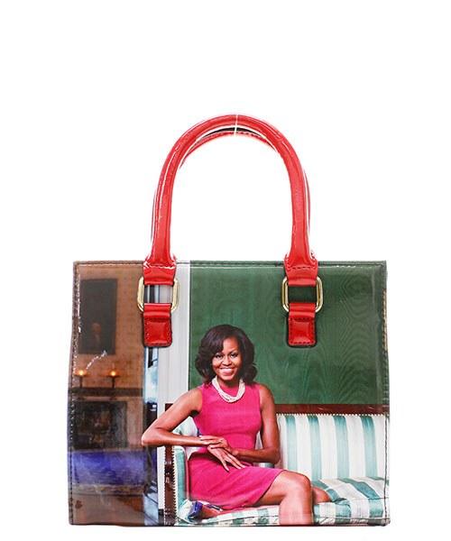 Michelle Obama Red Handle Mini Purse (95700141) photo