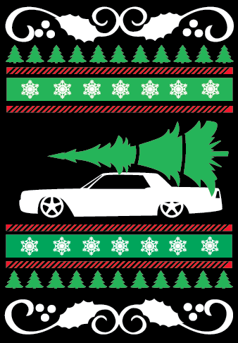 Lincoln Continental Ugly Christmas Sweater Vinyl Guru Online