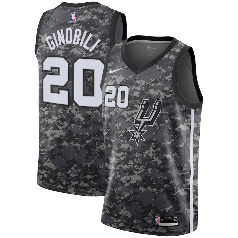 e4e33d0ee Men s San Antonio Spurs  20 Manu Ginobili Jersey City Edition ...
