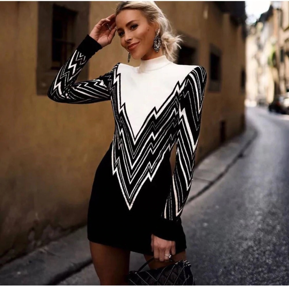 f5dd7861205 Alexis Black and White Knit Dress · somethingshelikes · Online Store ...