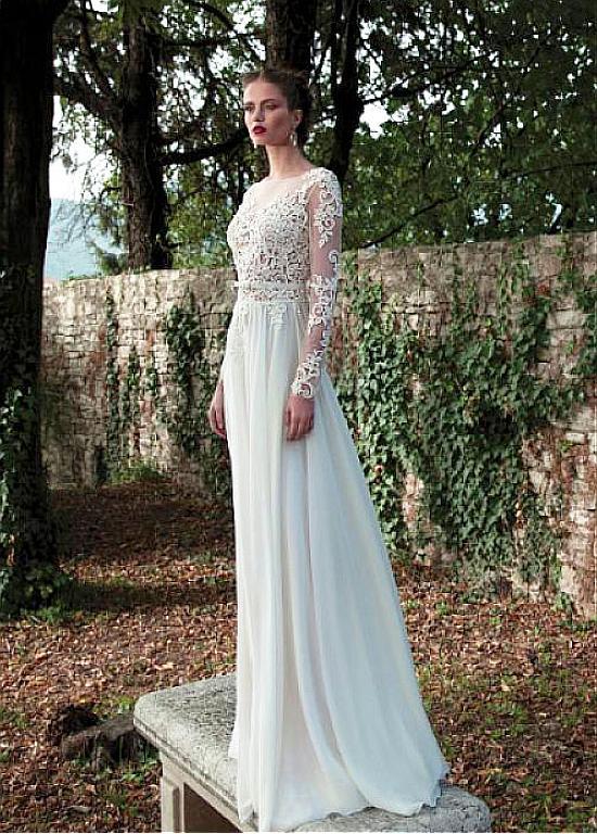 Sheath Wedding Dress.Elegant Tulle Chiffon Bateau Neckline Natural Waistline Sheath Wedding Dress With Beaded Lace Appliques From Eternally Yours Custom Bridals