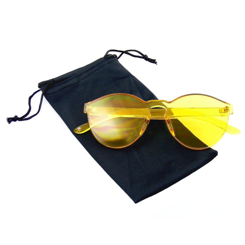 ad66e0e7d3c ... Womens Round Transparent Candy Sunglasses Sun Shades Men Luxury 8  Colors - Thumbnail 2 ...
