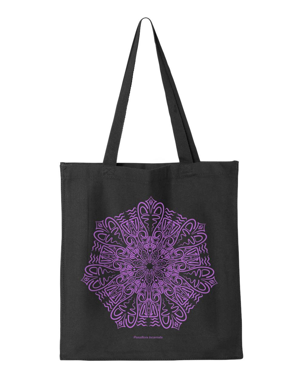 Passiflora Incarnata Tote Bag Ink Drop Designs Online Store