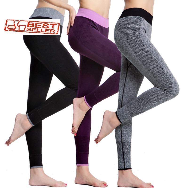 ea4cb9f3dedf6 Spandex Slim Elastic High Waist Stretchable Women Workout Leggings ...