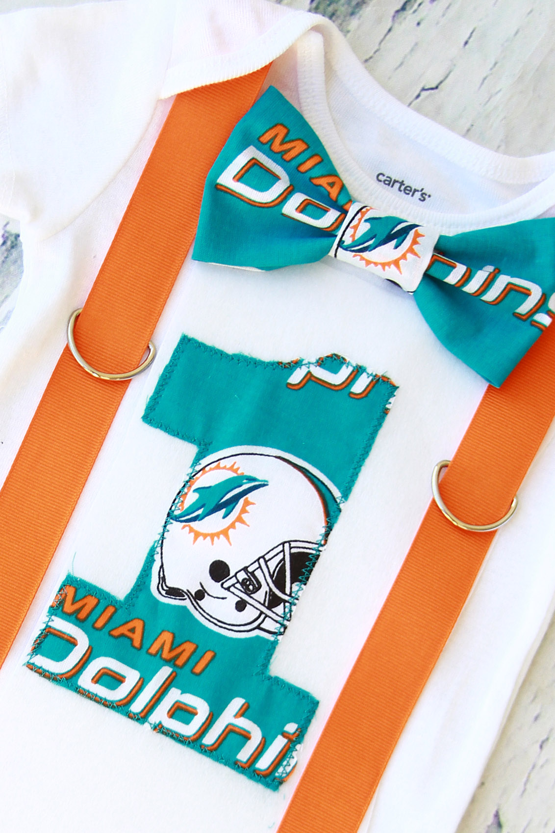 Pleasant Baby Boy First Birthday Miami Dolphins Outfit Cake Smash Bodysuit Personalised Birthday Cards Paralily Jamesorg