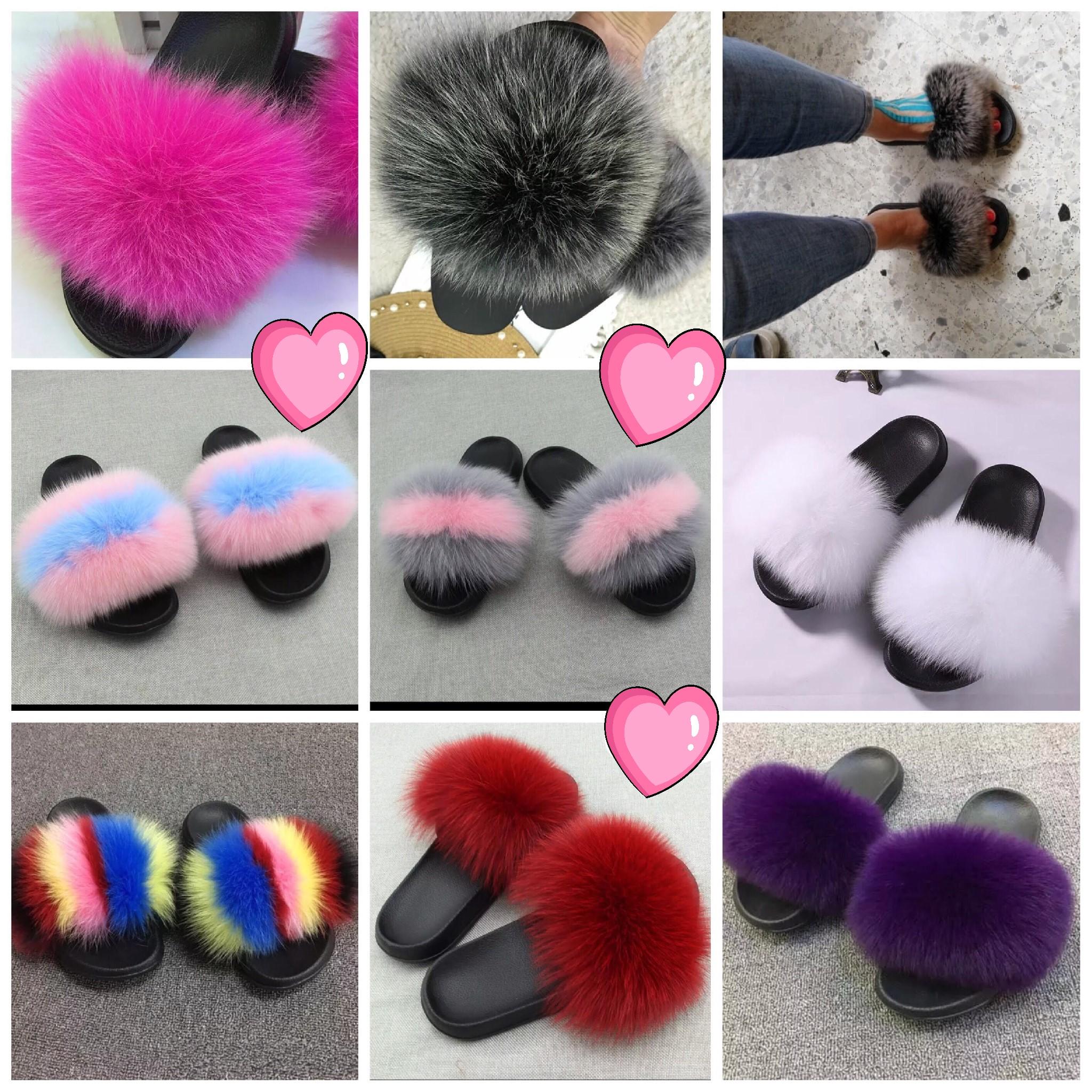 101254763ec Luxury Plush Furry Fur Slides Women s Size 6-13 on Storenvy