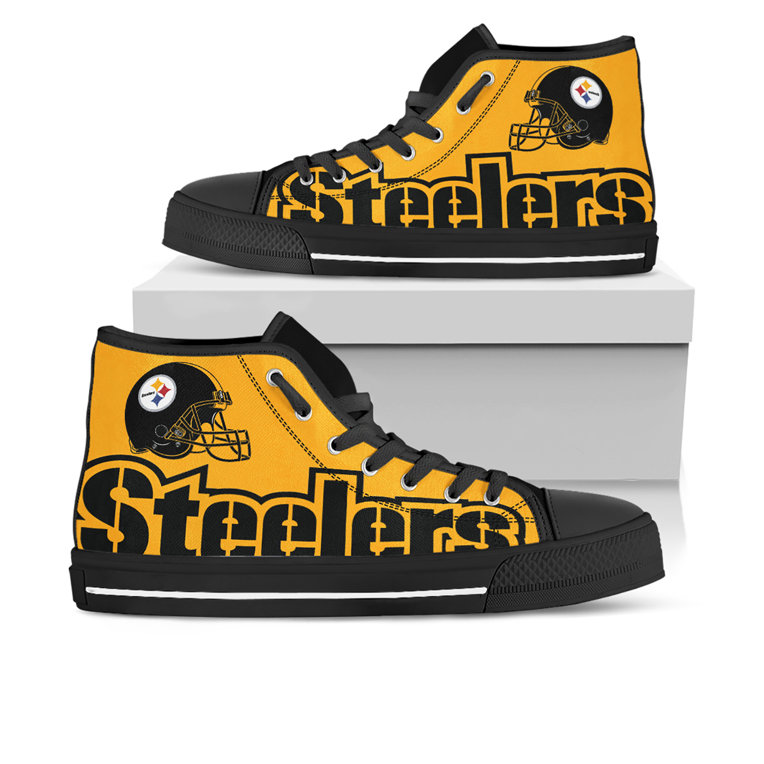 d6fc9b59 Pittsburgh Steelers Custom White Shoes/Sneakers/Trainers - Ladies/Kids  Sizes, Custom Shoes, Gift for Her, Gift For Men, Birthday Gift, Gift For  Wife