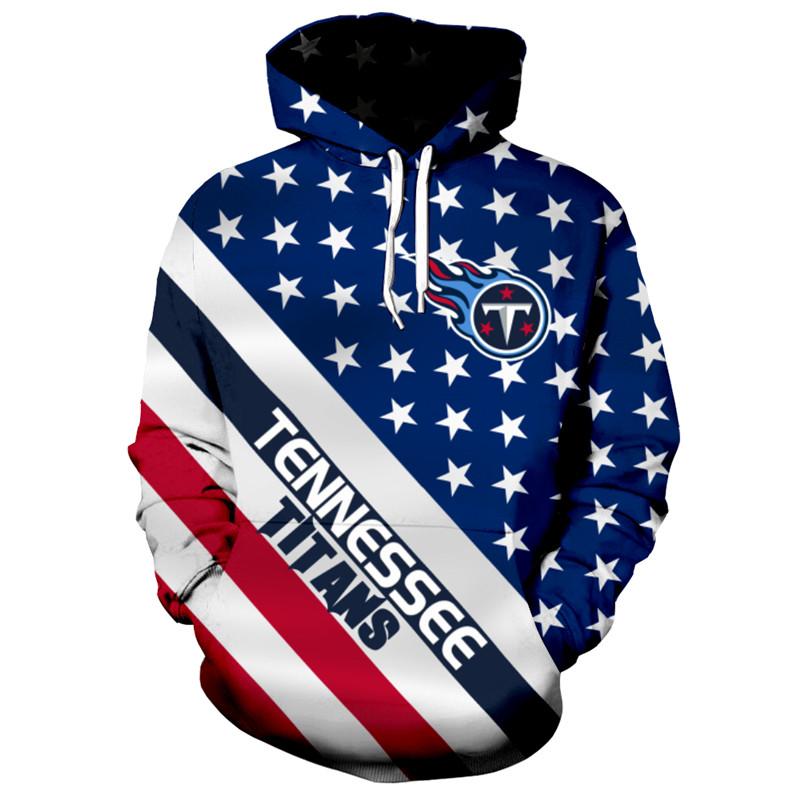 7b9dd4cc Tennessee Titans NFL Football Team Hoodie Star Flag