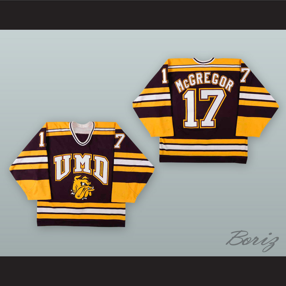 official photos 4e965 ed476 Bryan McGregor 17 University of Minnesota-Duluth Bulldogs Hockey Jersey  from acbestseller