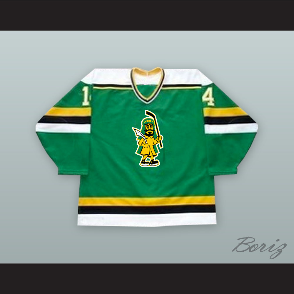 pretty nice b9906 e91a3 Kevin Kellett 14 Prince Albert Raiders Green Hockey Jersey from acbestseller