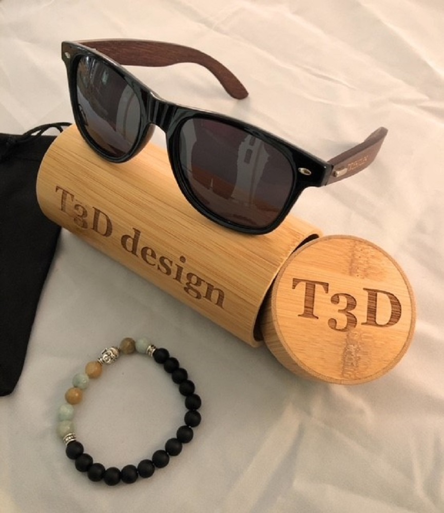 5e96fb78256b6 Wooden Sunglasses by T3D Design (Surf Collection) - Bamboo ...