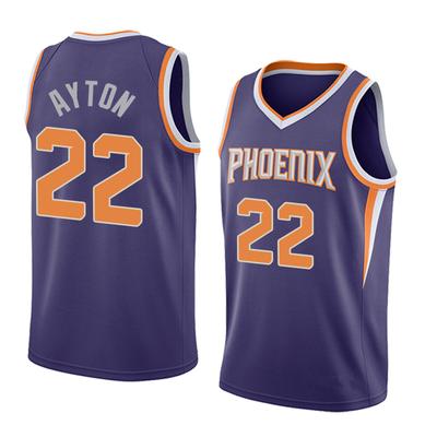 Men s phoenix suns 22 deandre ayton purple basketball jersey - Thumbnail 5 b7bd7c863