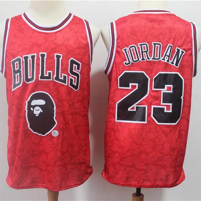 268977067b9 Bape x mitchell   ness special edition chicago bulls 23 jordan jersey -  Thumbnail 1