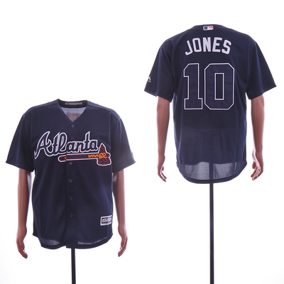 fb67c482d Men s atlanta braves  10 chipper jones flex base player jersey - Thumbnail 3