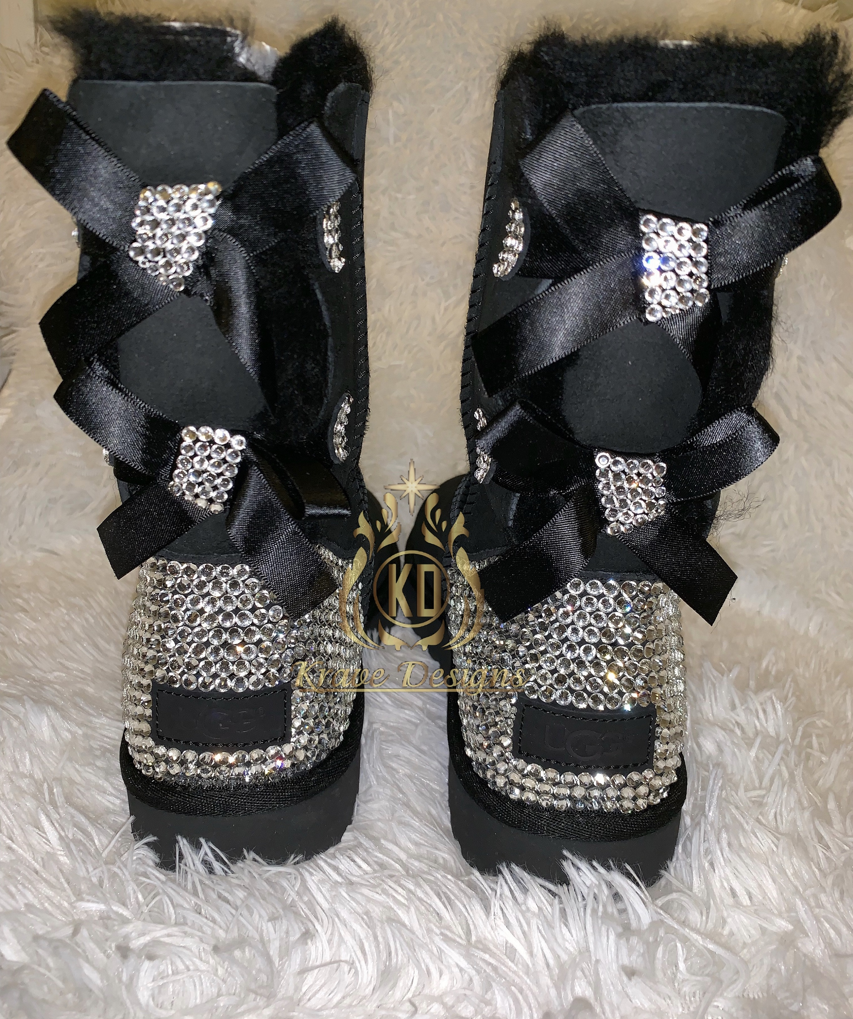 67cdc8dcd Bling Rhinestone UGG Boots (Authentic) · Krave Designs Custom Gifts ...
