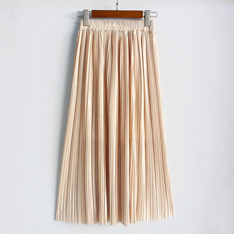cb8c4c88e Champagne Pleated Skirt on Storenvy