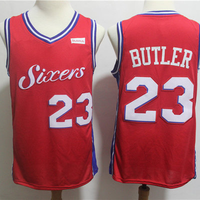 2b6a96a4aa8 Philadelphia 76ers jimmy butler fanatics branded red fast break replica  player jersey- statement edition