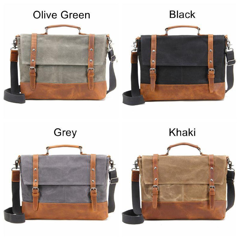 737e8001c4dd Men's Vintage Waterproof Canvas Handbags 14
