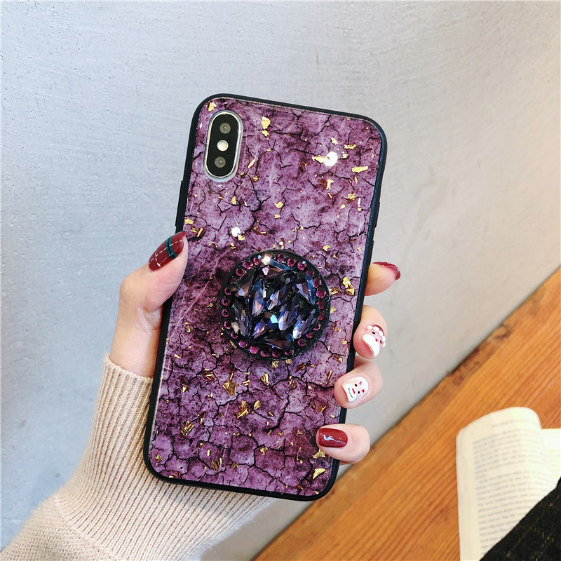 the best attitude 4d0d4 6f376 Glittering Lilac Crystal Iphone Case With Holder