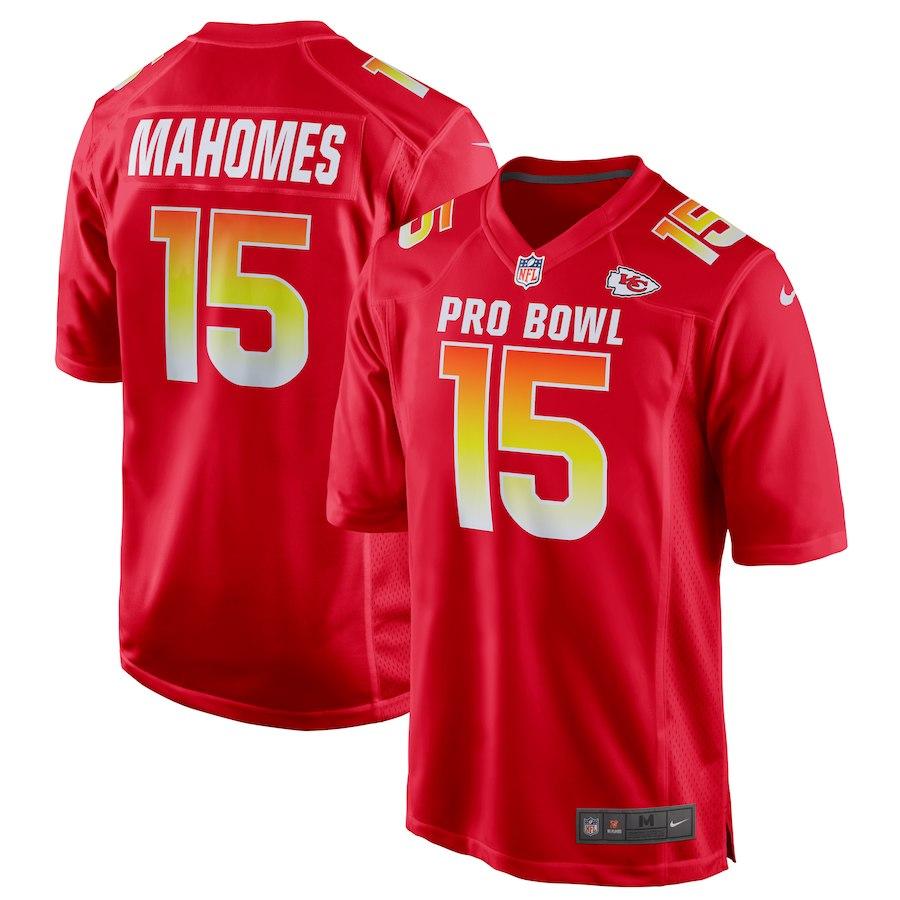 2019 Pro Bowl Kansas City Chiefs  15 Patrick Mahomes Game Jersey – Red 4b876b21c320
