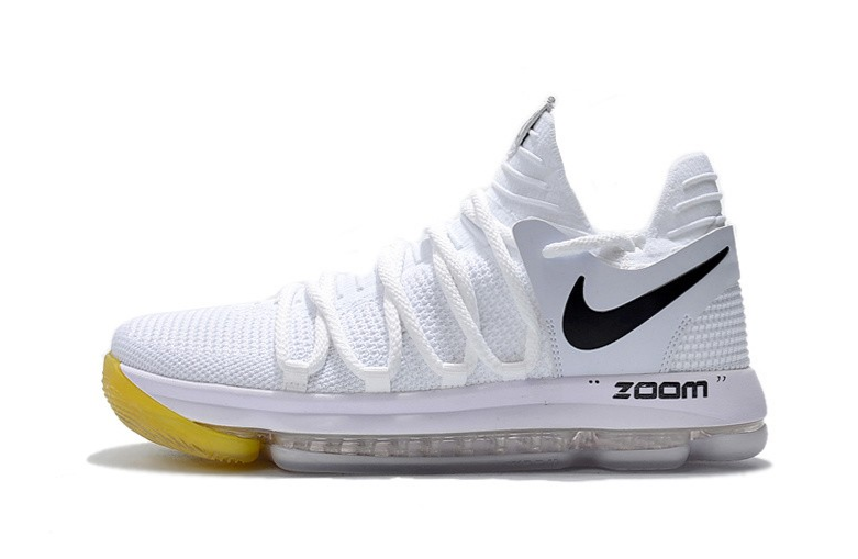 f0c05c525b54 Off-White x Nike KD 10 White Black Yellow For Sale 2018 new shoes ...