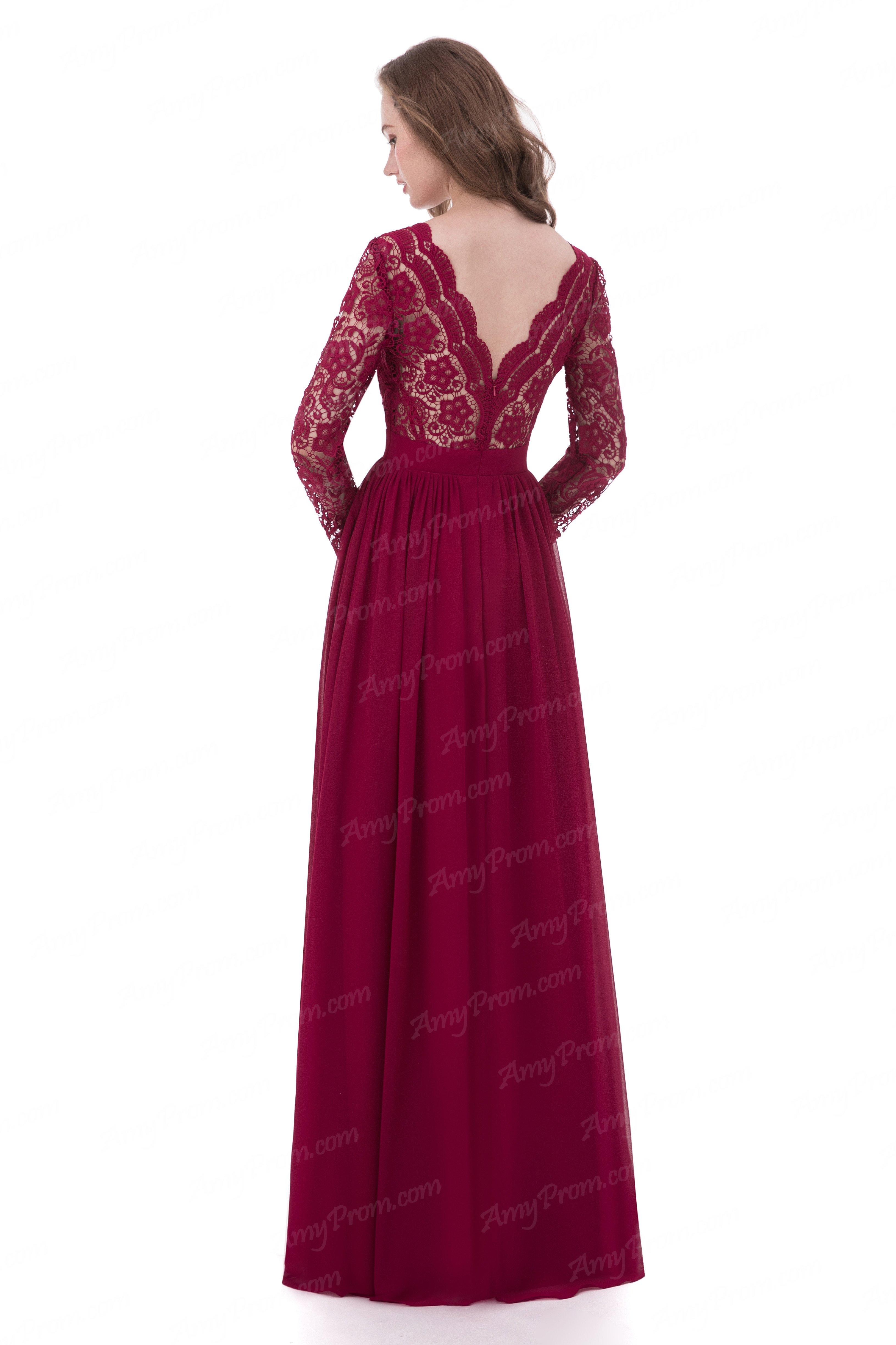 Burgundy Evening Dress b4b2622c9