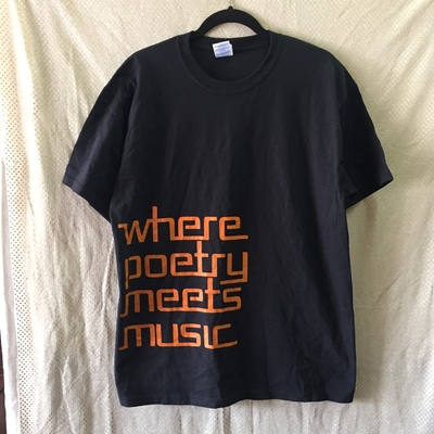 cb221acc Black - where poetry meets music - new mens cotton t-shirt - Thumbnail 1