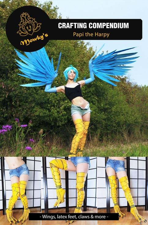 Tutorial Ebook Papi The Harpy Diy Cosplay Costume Monster Musume Wings Build Wig Styling