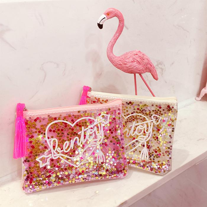 Sequins glitter purse student mini transparent portable purse (101577009 cutetaoshop) photo
