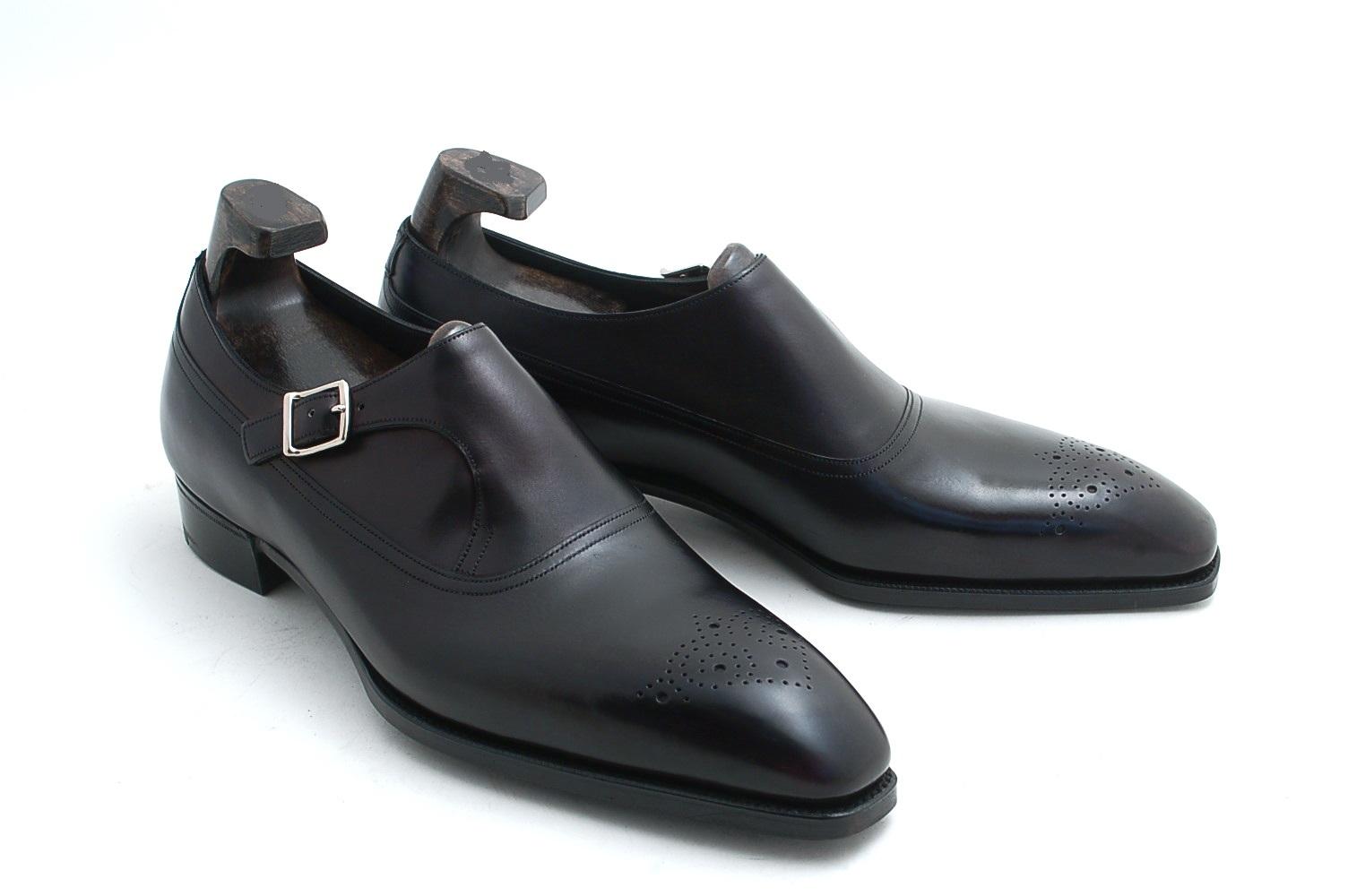 mens monk shoes black