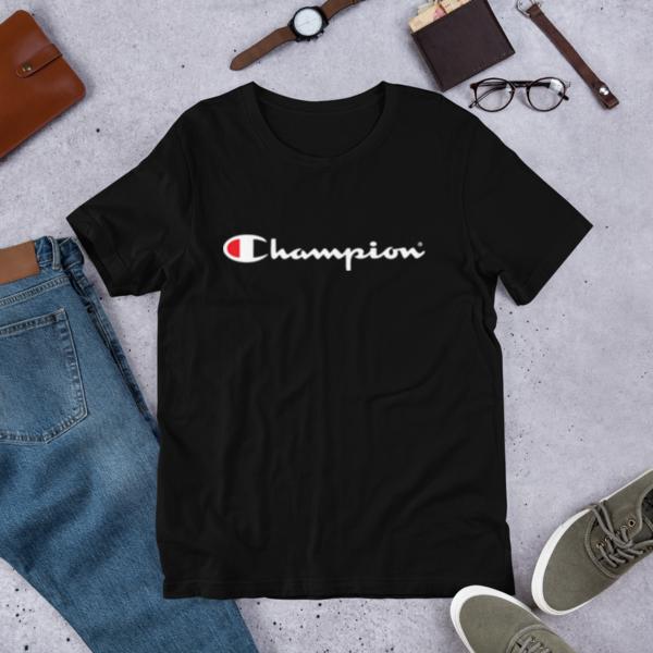 3f922b798 NWT Champion Men's Classic Jersey Script T-Shirt Limited Edition GT280 Navy  2XL - Thumbnail ...