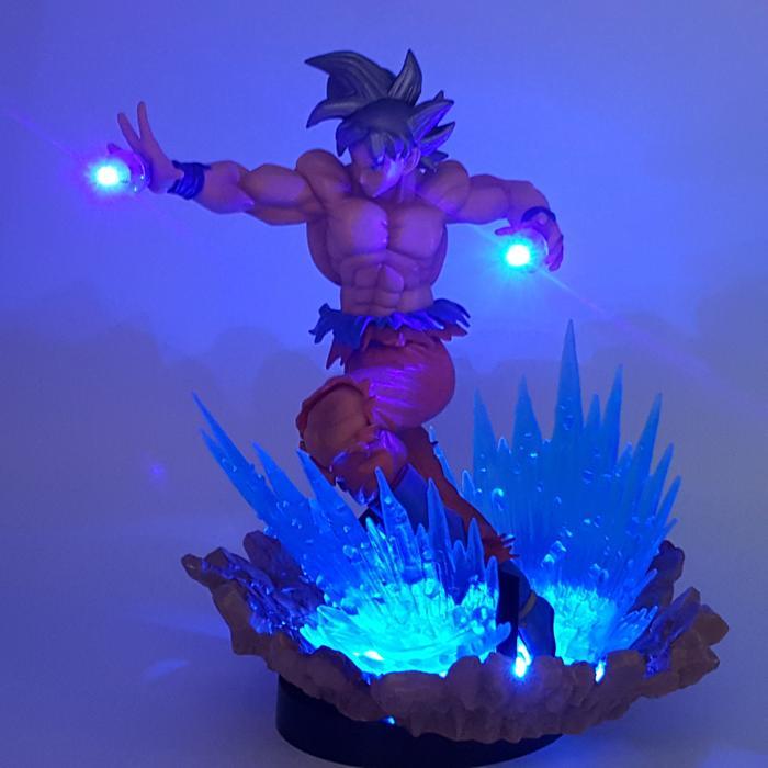 Dbz Son Goku Kaioken Ultra Instinct Blue Aura Diy 3d Led Light Lamp Sold By Saiyan Stuff On Storenvy