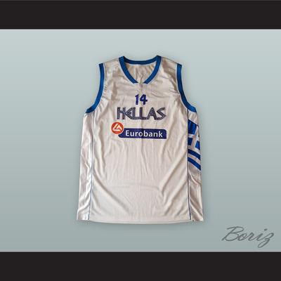 87b751228558 Lazaros papadopoulos 14 greece white basketball jersey - Thumbnail 3