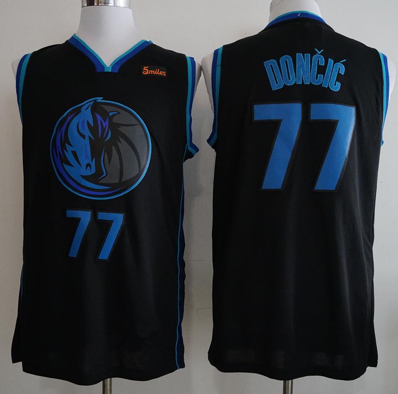 766ca4d44a0 Men s Dallas Mavericks Luka Doncic Anthracite 201819 Swingman Jersey – City  Edition Basketball Jersey