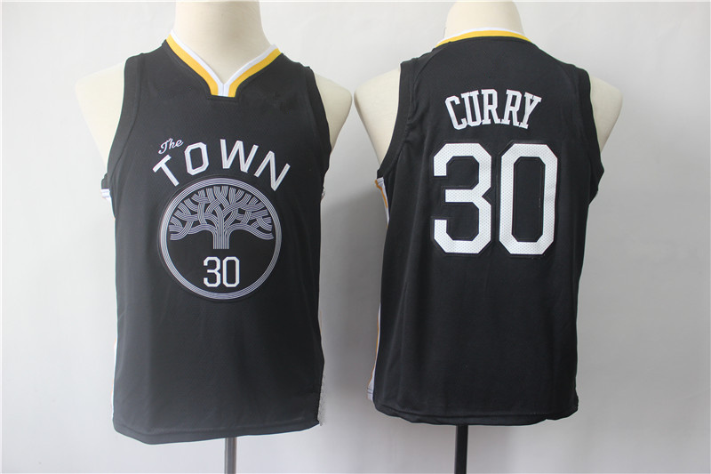 cheaper 196a0 75f02 Youth Golden State Warriors 30 Stephen Curry Black Swingman Jersey from  vsport